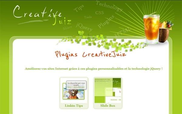 Le site de Plugins jQuery CreativeJuiz