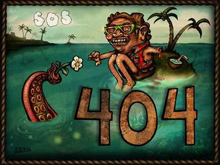 Illustration d'un erreur 404