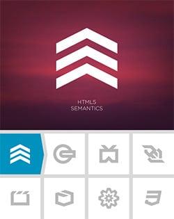 """Les différents logos """"des HTML5"""""""