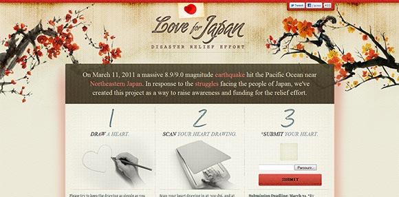Aperçu du design Love For Japan