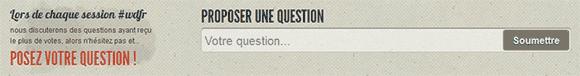 Champs de proposition d'une question sur le site du WDFR