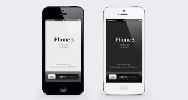 iPhone 5 -Vector Mockup