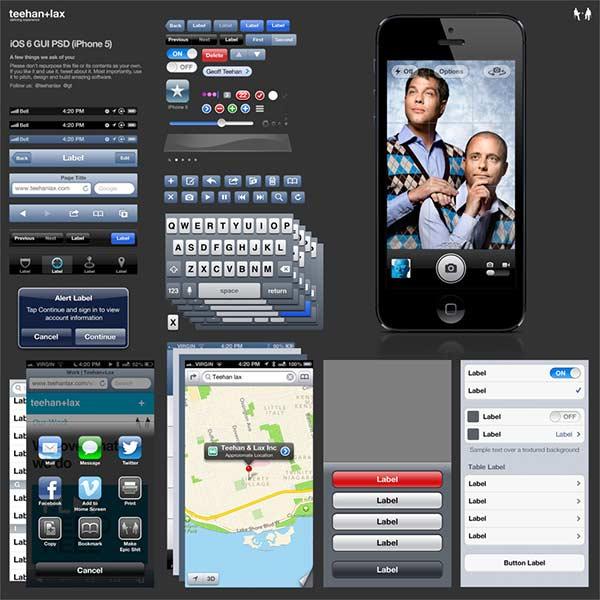 iPhone 5 (iOS 6) GUI PSD