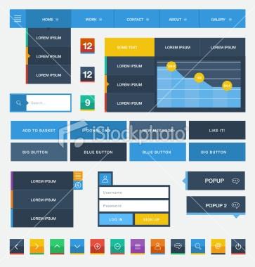 istockphoto - Composants Flat Design 4