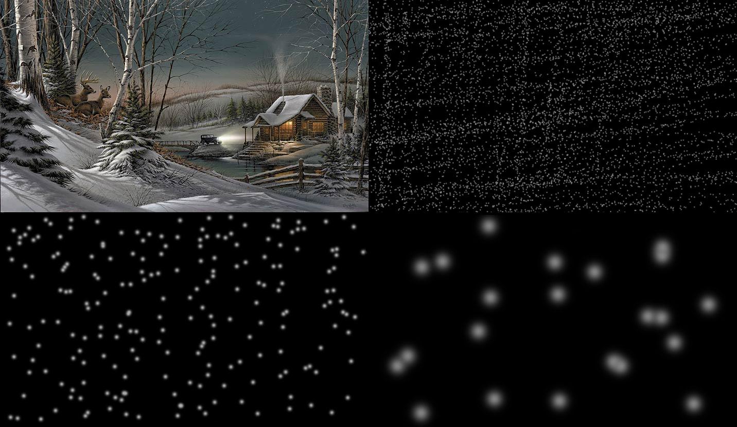 4 images nécessaire à l'animation