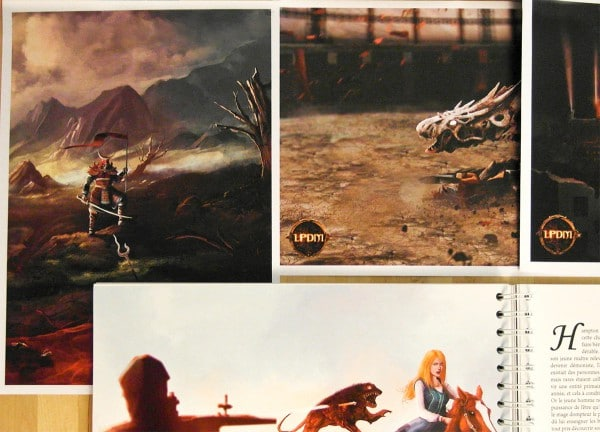 Une illustration du roman et les artworks format A4