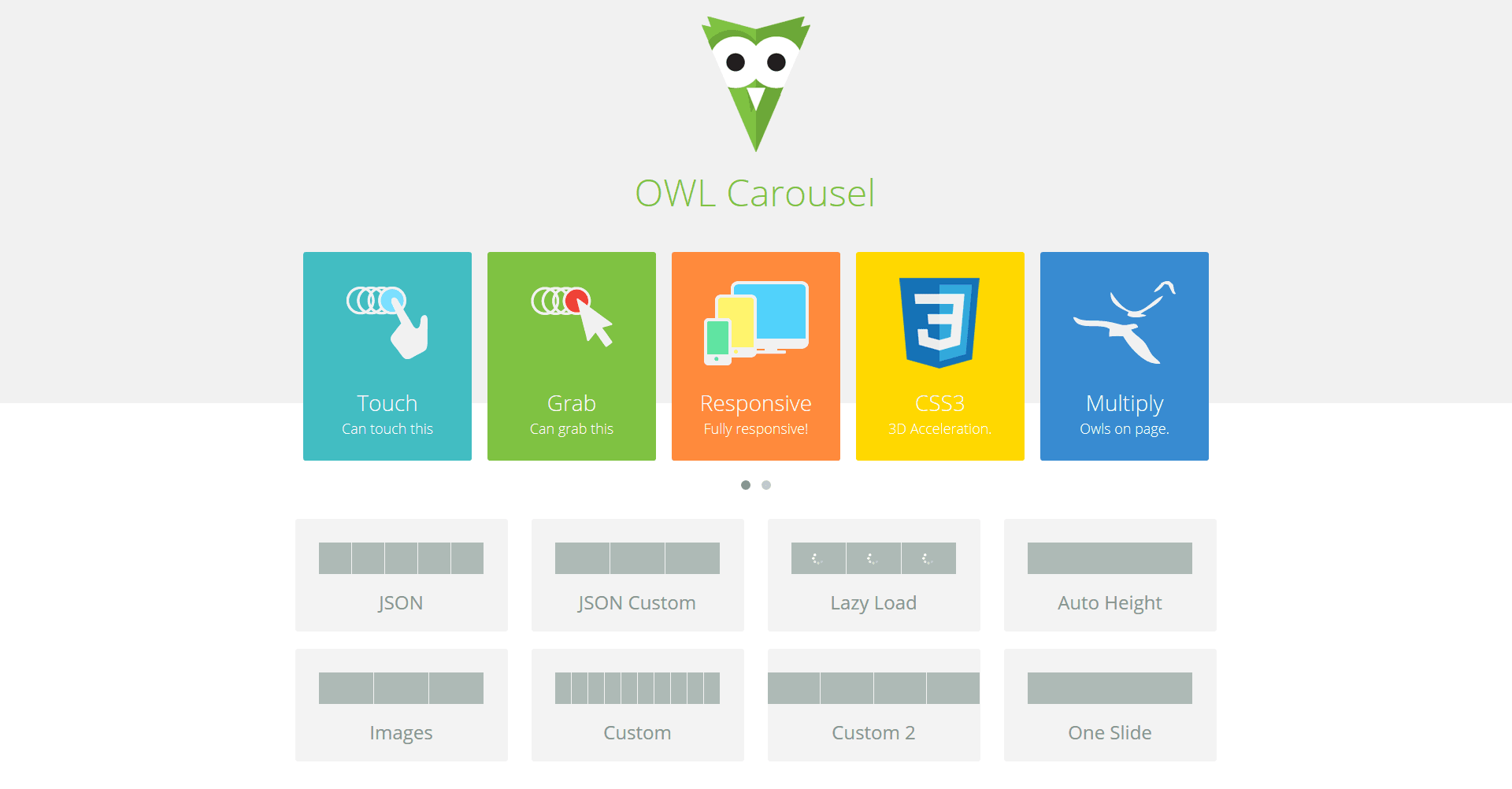 Owl Carousel Responsive Slideshow