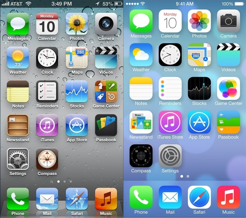iOS 6 et iOS 7