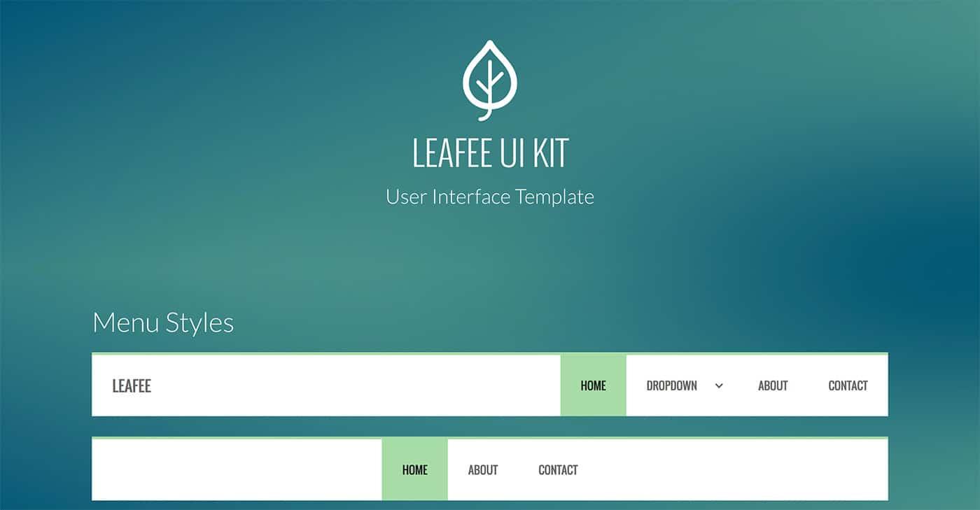 Leafee UI Kit